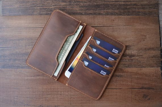 Passport Wallet PERSONALIZED Leather Passport Wallet by AlfioCase