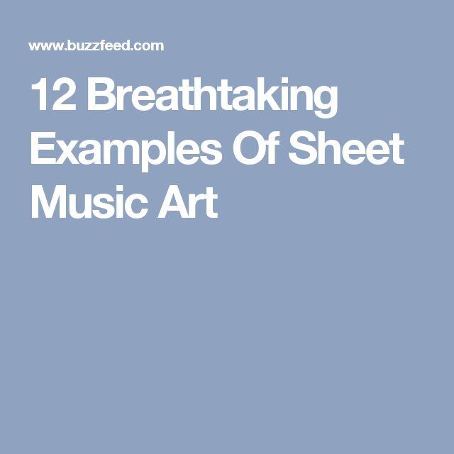 12 Breathtaking Examples Of Sheet Music Art