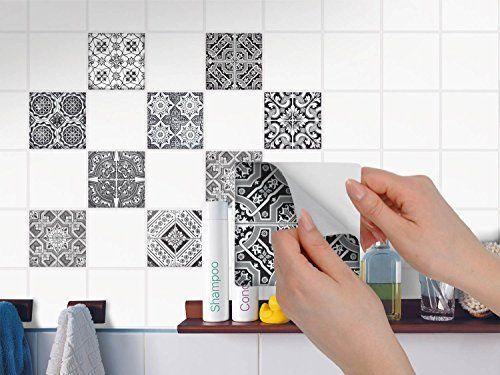 Carrelage Adhesif Stickers Salle De Bain Et Cuisine Feuille Adhesive Decorative Carreaux Mosaique Carre Salle De Bain Et Cuisine Stickers Carrelage Tuile