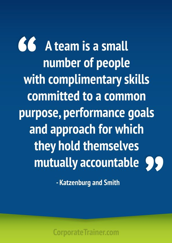 Great quote to get a group discussing team work.
