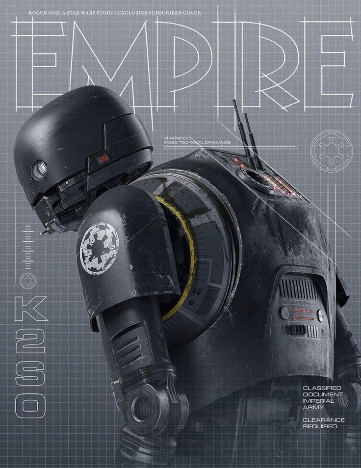 La última portada Empire de Rogue One es para el droide K-2SO. Más cositas sobre la peli en http://www.la-frikiteka.com/tag/star-wars-rogue-one