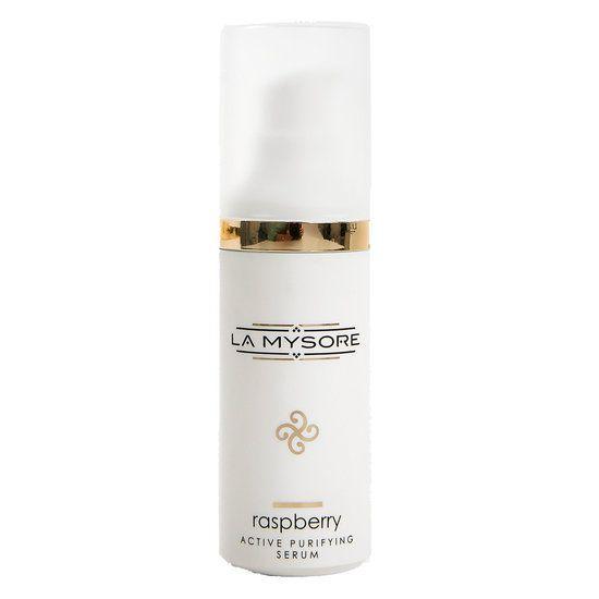 100% natuurlijke gezichtsverzorging - La Mysore Raspberry active puifying serum. - biolochique