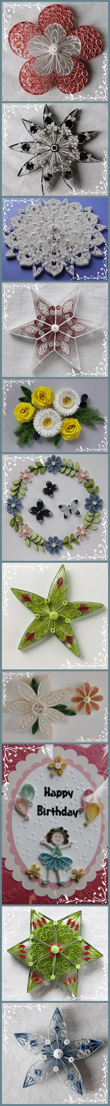 Paper art - making flowers idea