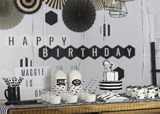 Black And White Birthday Party White Party Theme White Party