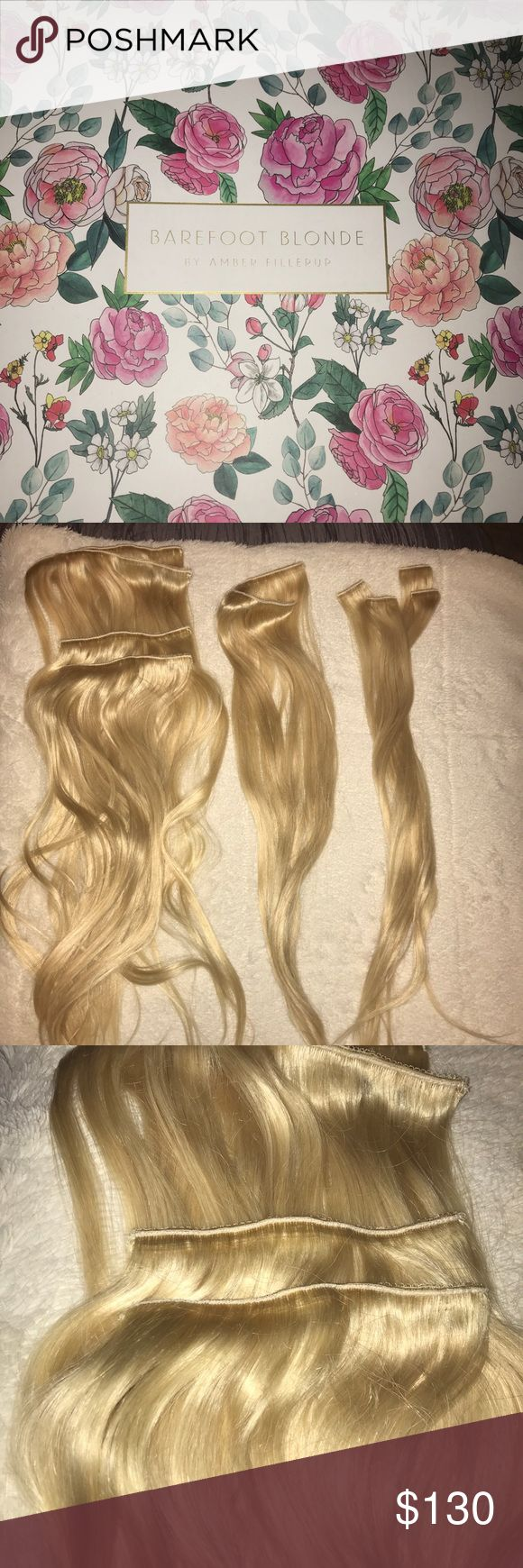 """Barefoot Blonde Hair Extensions Barefoot Blonde Hair Extensions! Never worn, bought the wrong color & cant return. Platinum color 21"""". Accessories Hair Accessories"""