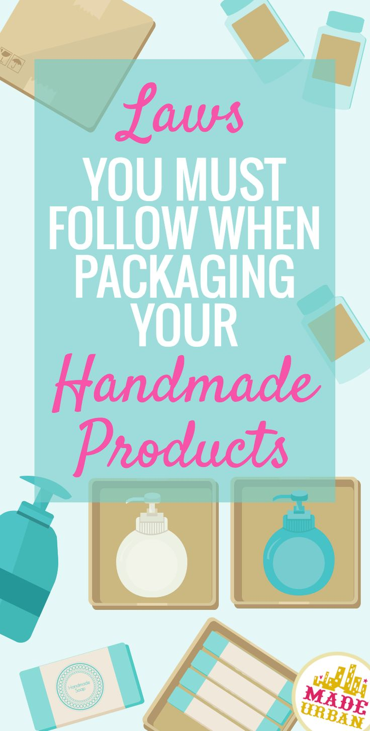 Do you package your handmade cream in a jar? Do you have the product name, volume and your business' name and address clearly printed on each label? If not, you may be in violation of laws when it comes to packaging and labeling. Click to find out what they are and links to other label and packaging rules for products you sew or knit.