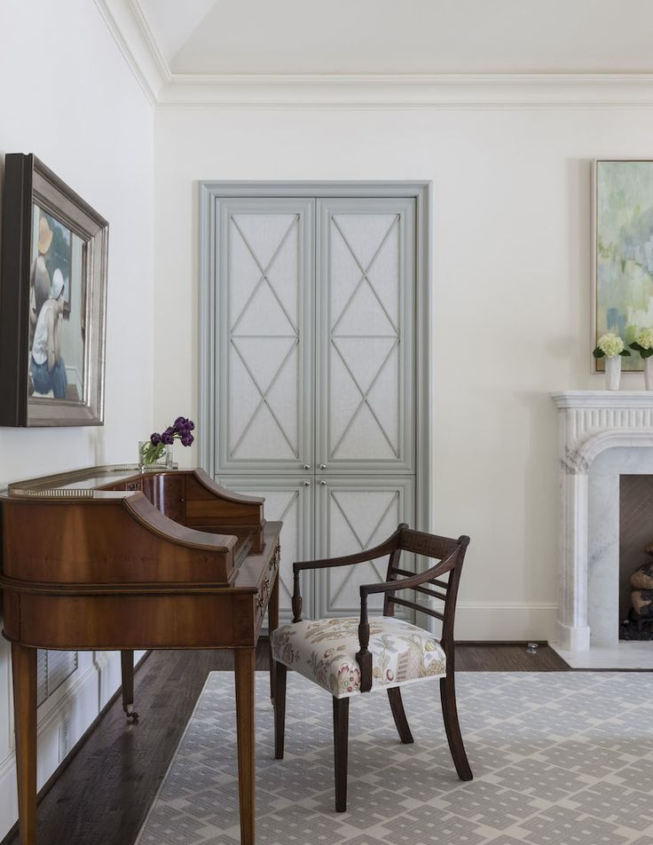 Nod To French Finishes In This Traditional Bedroom Office By Collins Interiors