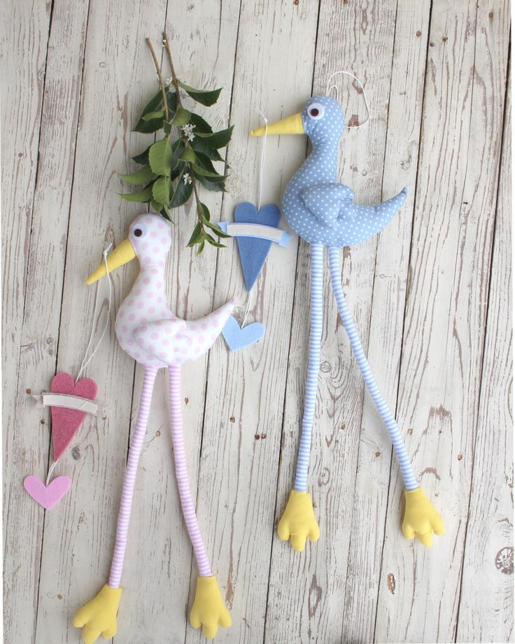 Cicogna dalle gambe lunghe e cuore per annuncio nascita maschietto : Altro bebè di le-cose-piccinine