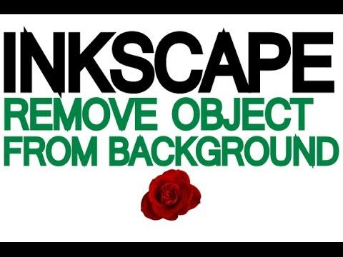 Inkscape Tutorial - How to remove a traced object from it's background - YouTube