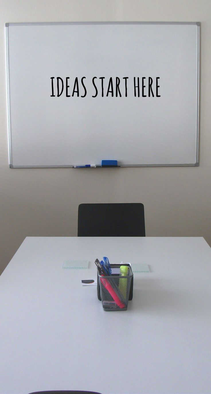 Fill a whiteboard with your ideas! Dream on! #inspiration #motivation