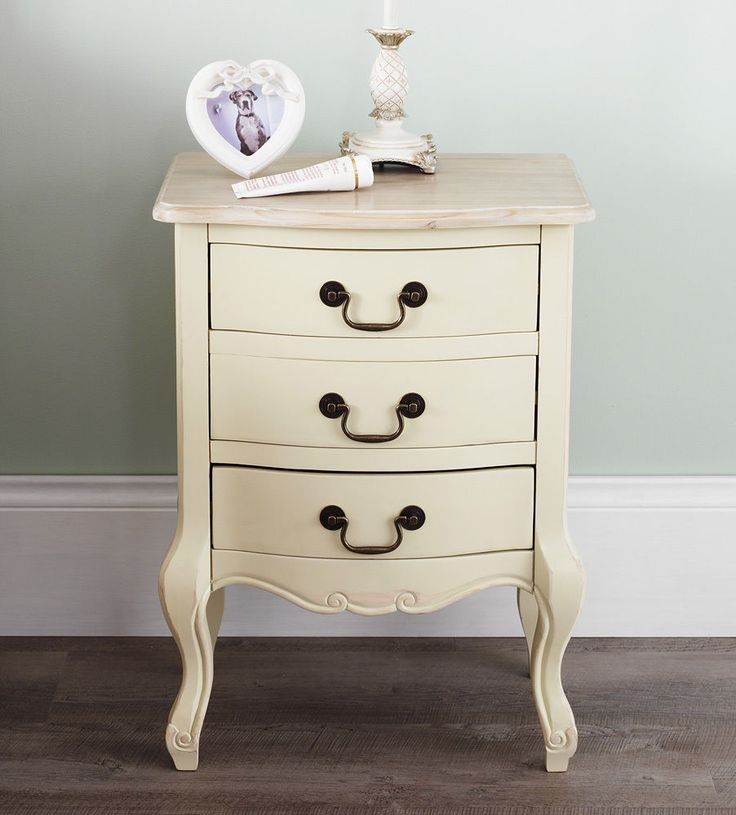 Shabby Chic Champagne Furniture, cream chest of drawers, dressing table, chests | eBay
