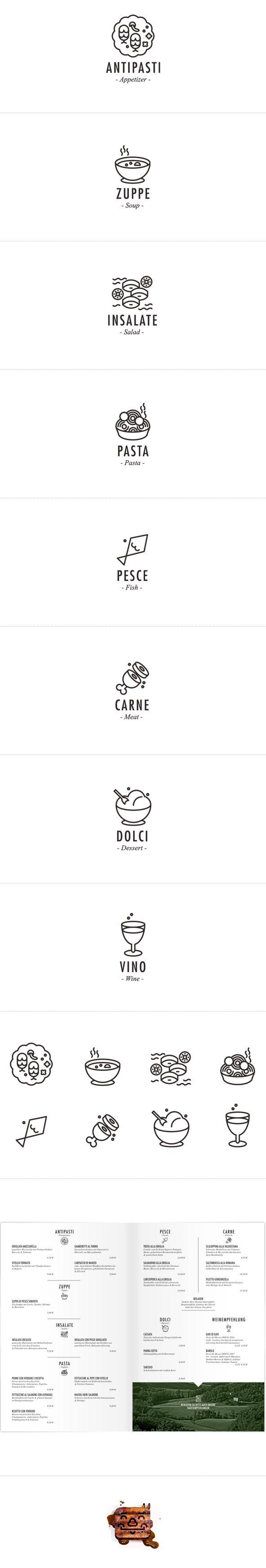 高级餐厅的菜单ICON创意