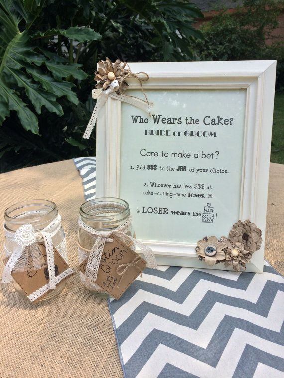 Cake Table Decoration Who Wears the Cake by MaganLovesWeddings, $40.00