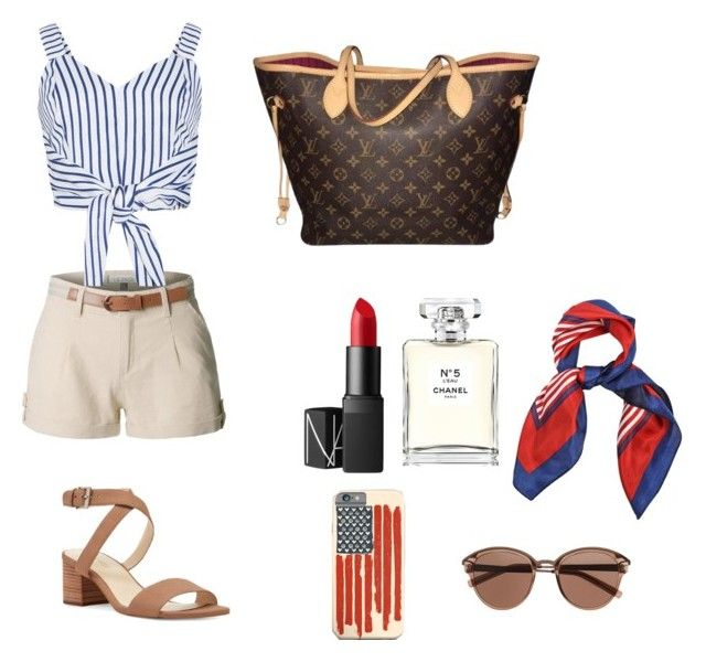 """""""Casual and comfy"""" by isagarcia18 on Polyvore featuring moda, LE3NO, WithChic, Louis Vuitton, Nine West, NARS Cosmetics, Chanel y Witchery"""