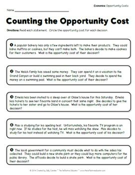 Economics: Opportunity Costs