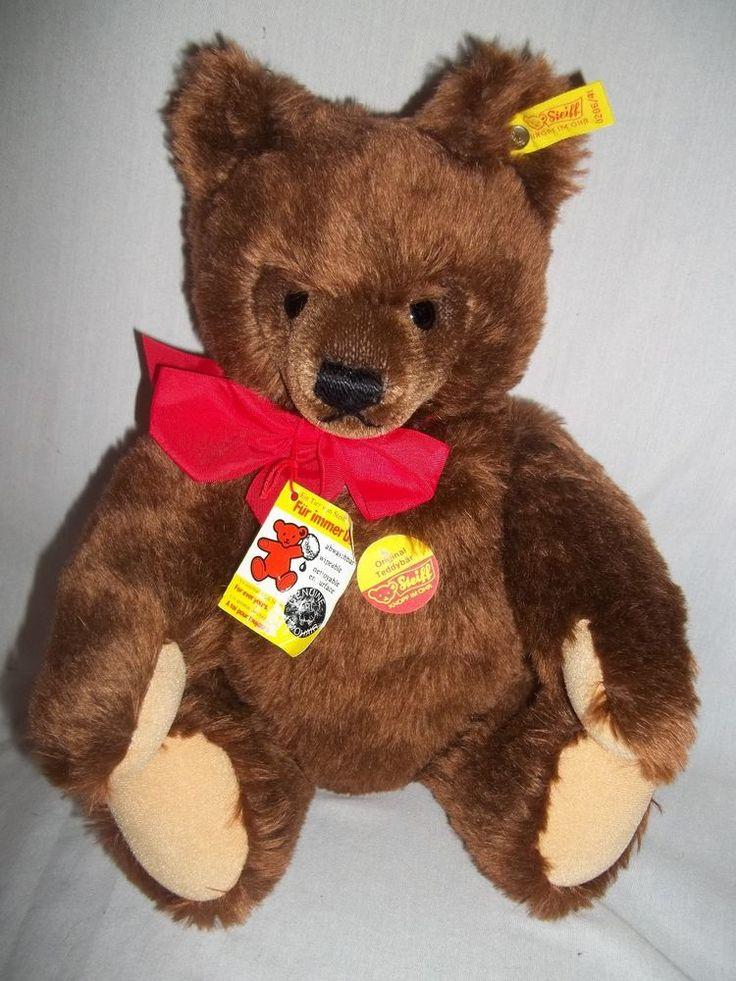 VINTAGE STEIFF MOHAIR TEDDY BEAR WITH GROWLER  MADE IN WEST-GERMANY #Steiff