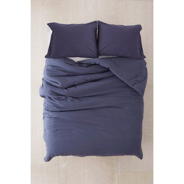 Washed Cotton Comforter (€115) ❤ liked on Polyvore featuring home, bed & bath, bedding, comforters, king size comforters, urban outfitters bedding, king size pillow case, king pillow cases and twin xl bedding