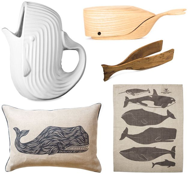 I didn't know I could like whales so much after seeing this whale round up by Emily of Short Story Design. I'm especially loving that Jonathan Adler pitcher.