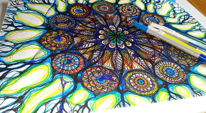 Mandala art by Egle Stripeikiene.