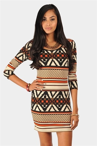 Tribal printed dress