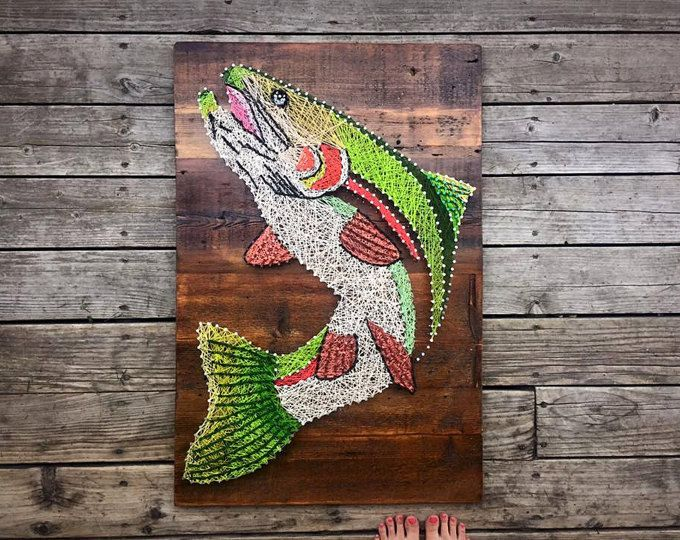 17 best ideas about brown trout on pinterest trout for Fish string art