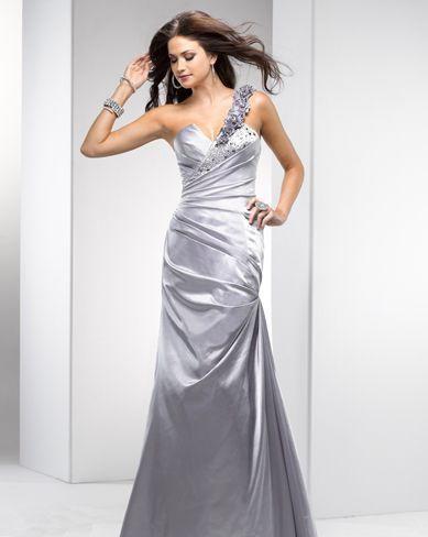 flirt silver evening dress