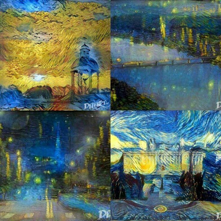 Если бы Винсент Ван Гог жил и творил на Святом Белогорье.  Волшебство deepart.io руками Дмитрия Романенко.