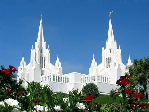 The LDS San Diego Temple.
