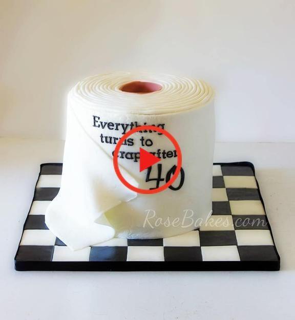 Toilettenpapier Kuchen Fur 40 Geburtstag In 2020 Deco Wordpress Schemes
