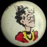 Pep Comic Buttons--Emmy   Emmy Plushbottom from Moon Mullins  The Pep Comic Buttons were packed inside specially marked boxes of Kellogg's Pep in 1945 1946 and 1947. There were five different sets to collect with each set consisting of 18 buttons. The complete assortment of pins is shown below: Set #2 - Offered in 1946 Olive Oyl Little King Hans Blondie Uncle Willie Rip Winkle Fritz Lord Plushbottom Junior Tracy Don Winslow Emmy Popeye Pop Jenks Maggie Dagwood Jiggs Andy Gump Superman…