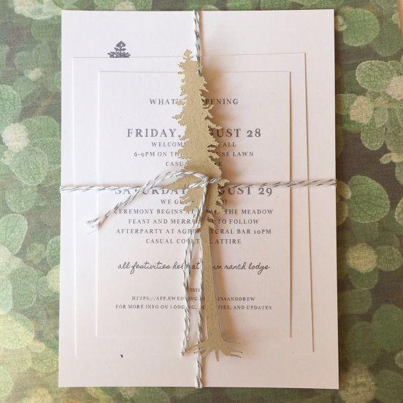 California Redwoods Wedding Invitation  Response Card