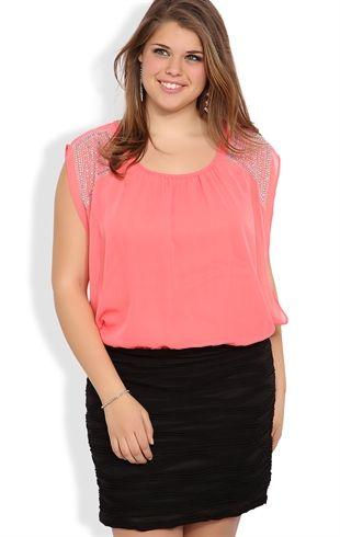 deb shops plus size sleeveless blouson dress with texture glitter
