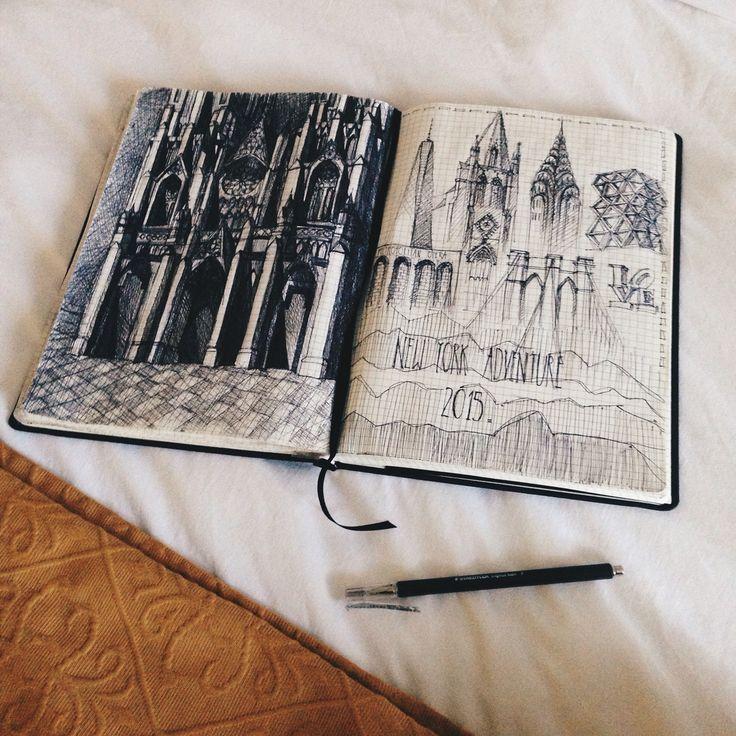 Katarzyna Kujawa  #architecture #sketchbook #jsketch #newyork