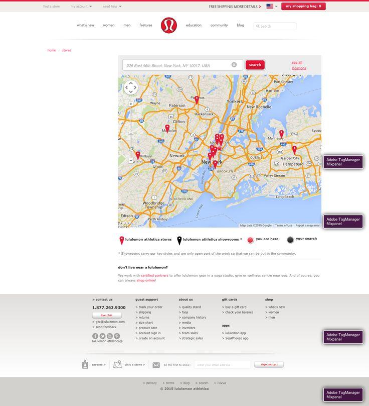 Lululemon Store Locator
