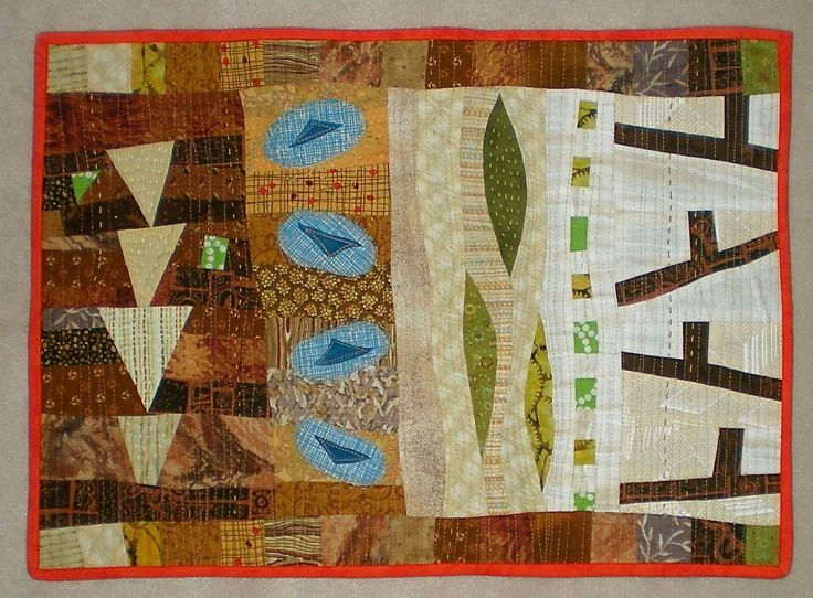 Tidying up the forest floor - 2016 Fairholme Quilters challenge, April 2016 14 x 20