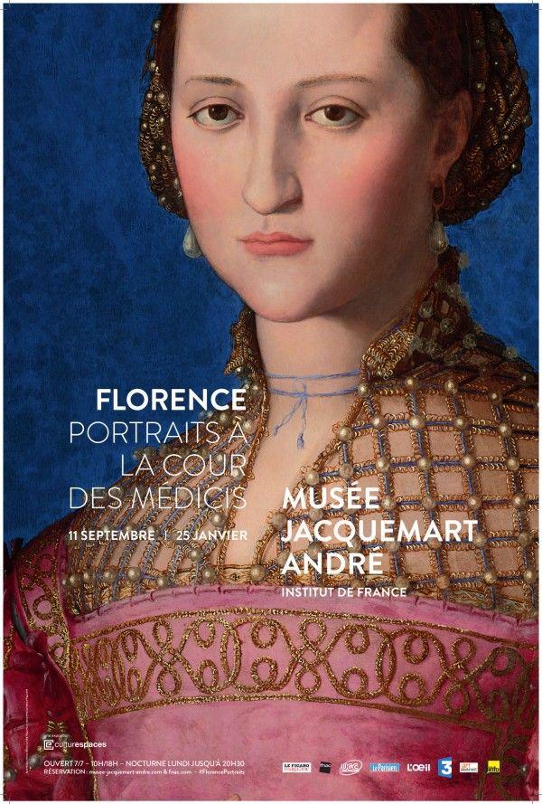 Florence : Portraits à la cour des Médicis au Musée Jacquemart-André. Affiche