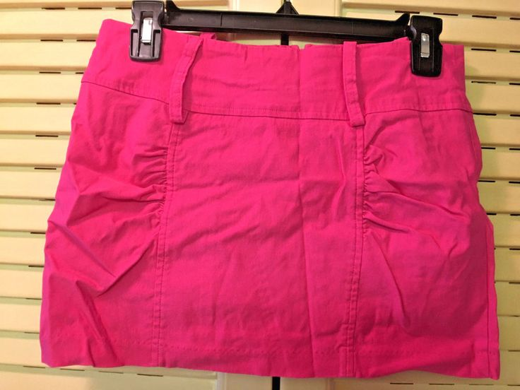 "Juniors Size 5 Body Central Pink 12"" Micro Mini Skirt #BodyCentral #Mini"