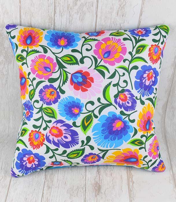 Poduszka ozdobna Folk Biały 30cm x 30cm decorative pillow