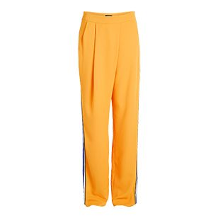 Stilig og elegant bukse med høyt liv og vide ben med full lengde. Kontrastfarget stripe og splitt i sidene gjør modellen ekstra stilig.