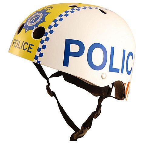 Buy Kiddimoto Police Scooter & Bike Helmet, Small Online at johnlewis.com