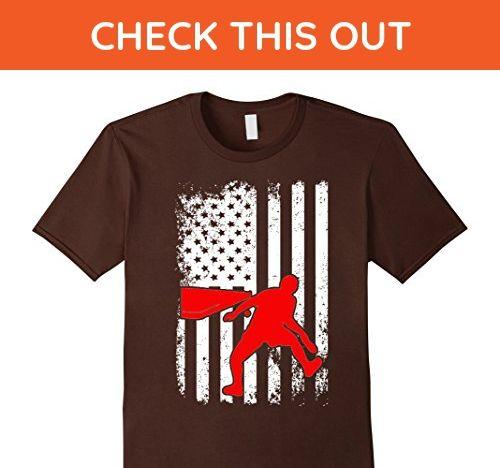 Mens Table Tennis Player USA Flag Pride T Shirt 2XL Brown - Sports shirts (*Amazon Partner-Link)