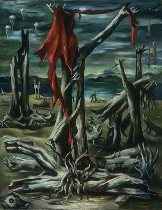 "Raquel Forner (Argentine, 1902–1988) Desolation Date:    1942 Medium:    Oil on canvas Dimensions:    36 7/8 x 28 7/8"" (93.7 x 72.7 cm)"