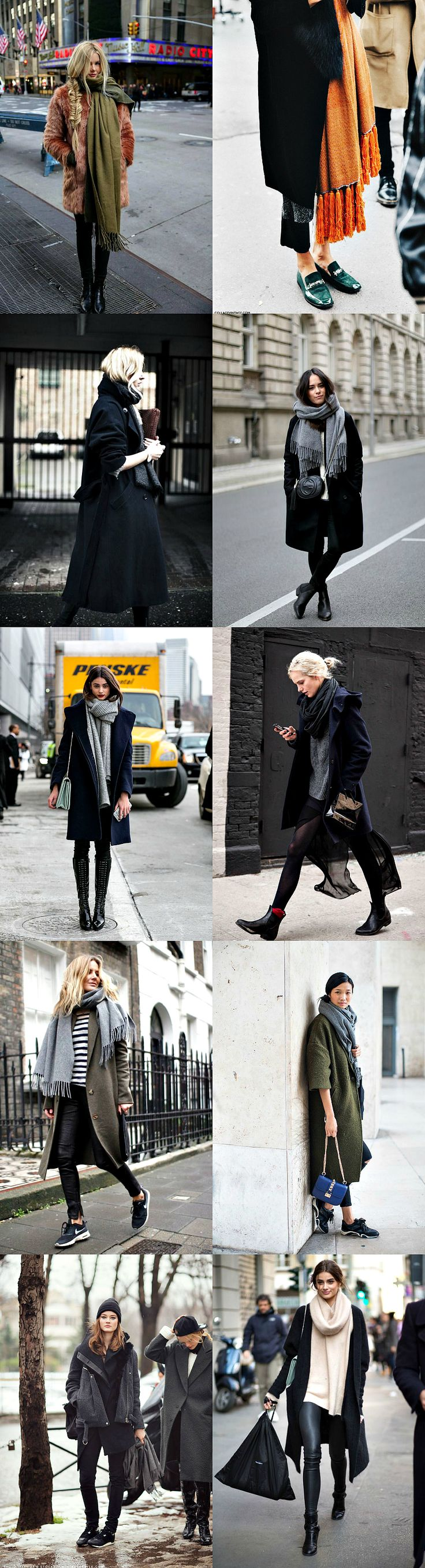 I would wear that...big coats and bulky scarves. - Bliss