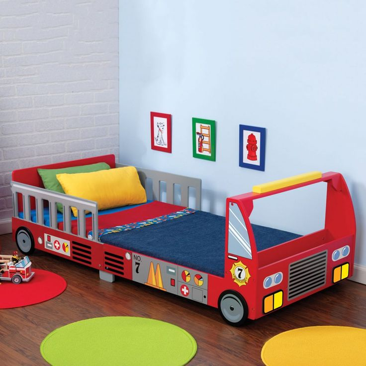 childrens fire engine bed