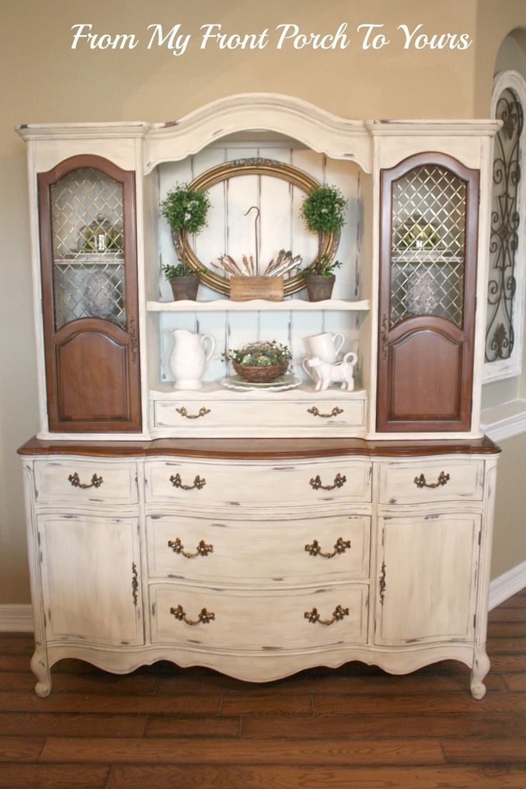 From My Front Porch To Yours: French Country Hutch Reveal  amazing what paint can do