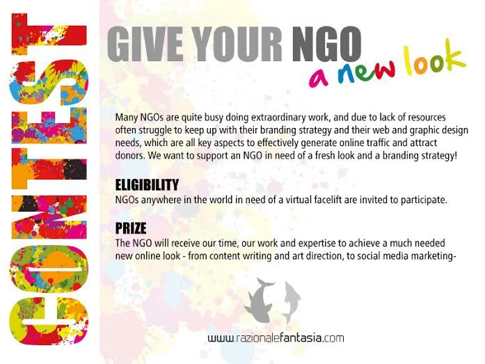 Contest for Nonprofits: Give your NGO a new look! Deadline: Dec. 8th. NGOs are quite busy doing extraordinary work, and due to lack of resources often struggle to keep up with their branding strategy and their web and graphic design needs - -all key aspects to effectively generate online traffic and attract donors- We want donate our time,  work and  love to offer our expertise in Graphic Design and Nonprofit Management to help an NGO in need of a fresh look. Information…