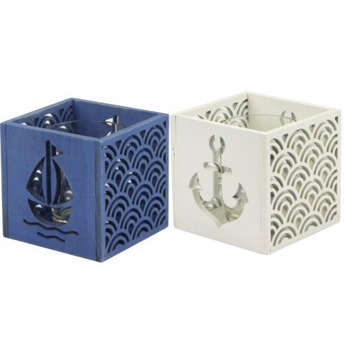 Nauticalia teal light holders