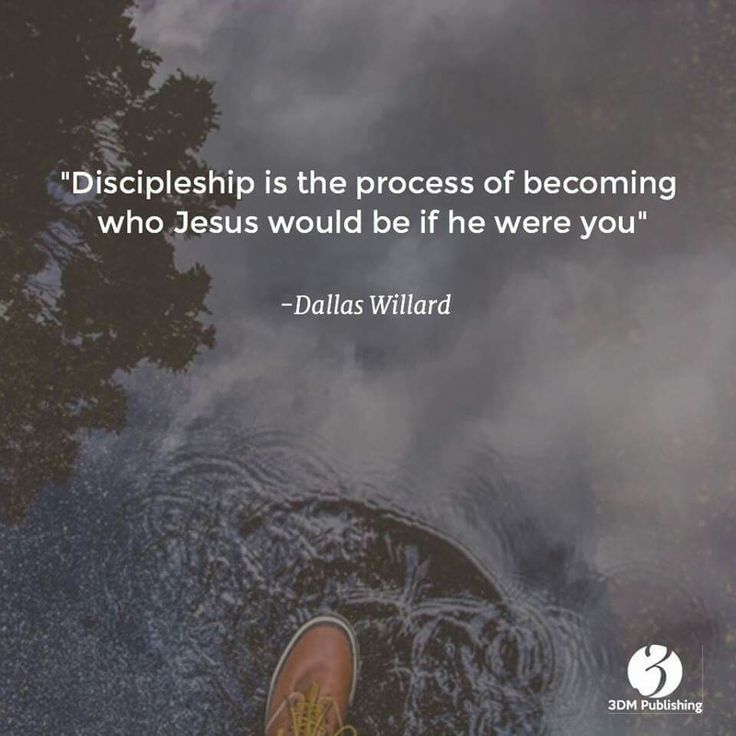 Discipleship is the process of becoming who Jesus would be if he were you.  - Dallas Willard