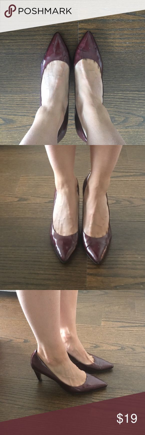 Tahari maroon patent heels Perfect for the office and super comfortable! Lovely color gives your outfit a bit of pop. 3.5in heel. Some visible wear. Tahari Shoes Heels