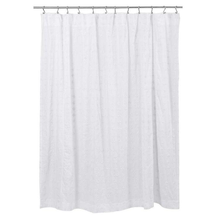nike roshes black&white ticking shower curtain